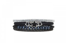 Mix & Match armband stone zwart