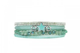 Mix & Match armband stone mint groen