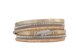 Armband feather beige