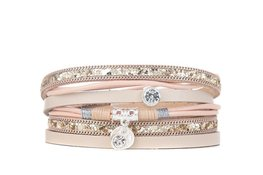 Armband feather shine beige