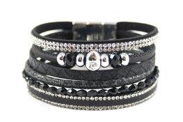 Zwart armbanden set