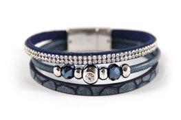 Mix & Match armband donkerblauw 3 lijns