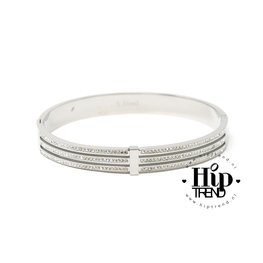 Stainless steel armband glitter