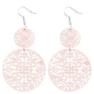 Dreamcatcher oorbellen licht roze
