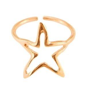 Metalen ring ster 16mm Rosé goud