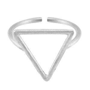 Metalen ring triangel 15mm Antiek zilver