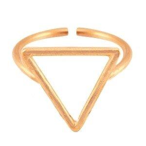 Metalen ring triangel 15mm Rosé goud