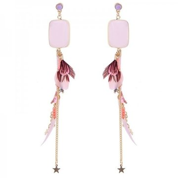 Earrings Happy -pink-