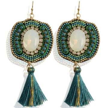 Earrings Todu -green-
