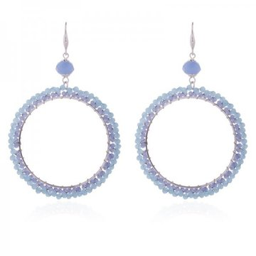 Earrings Cringle -blue-