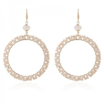 Earrings Cringle -taupe-