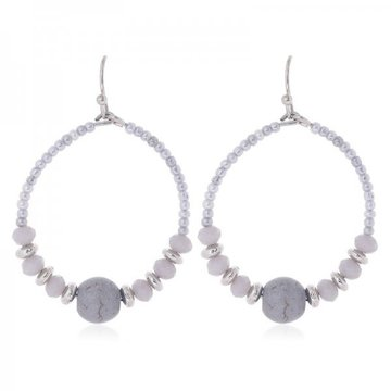 Earrings Joy -grey-