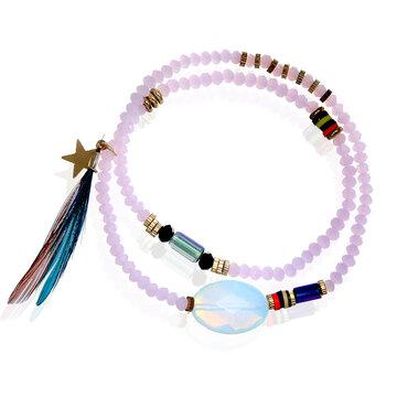 Stone bead armband
