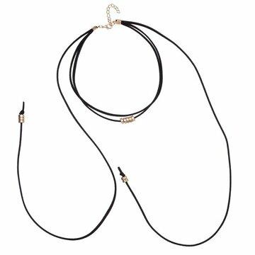 Choker necklace Zwart-goud