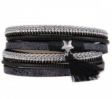 Armband shine star black