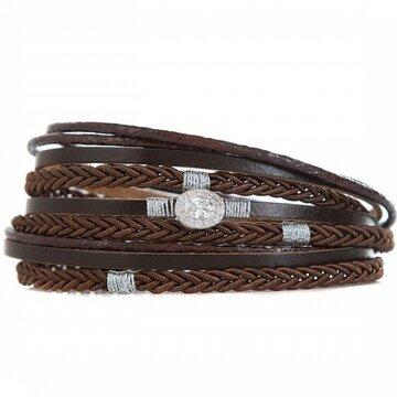 Armband long braun