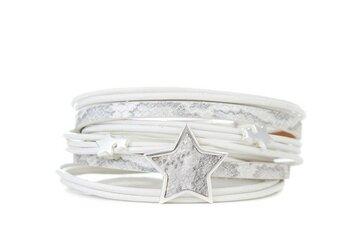 Armband star wit