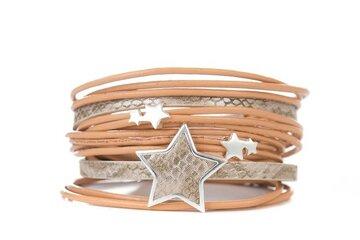 Armband star beige