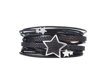 Armband star zwart