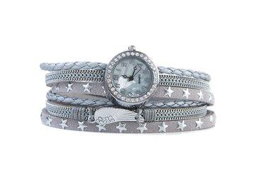 Horloge armband feather lichtgrijs