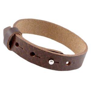 Leren heren armband bruin