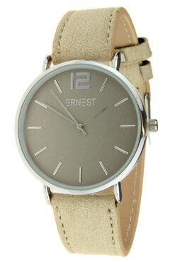 Ernest horloge zilver beige