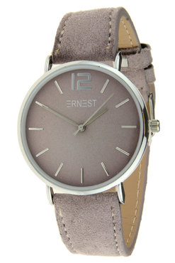 Ernest horloge zilver lila