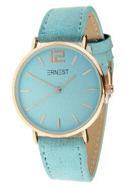 Ernest horloge rosé licht blauw