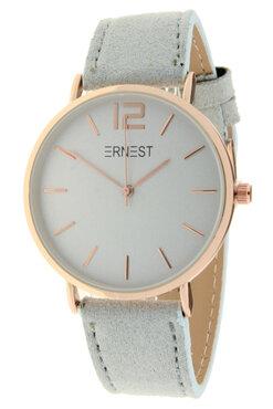 Ernest horloge rosé licht grijs
