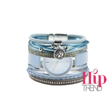 Armbanden set ice blue
