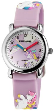 Kinder horloge unicorn lila