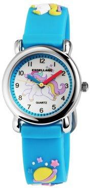 Kinder horloge unicorn blauw