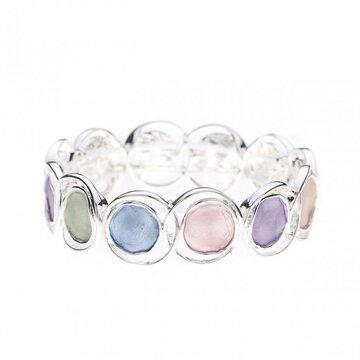 Luxe armband cirkel meerdere kleuren