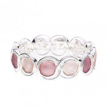 Luxe armband cirkel roze