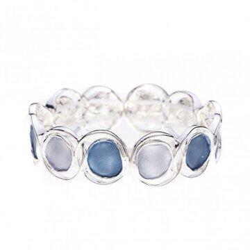Luxe armband cirkel blauw