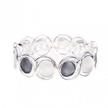 Luxe armband cirkel antraciet