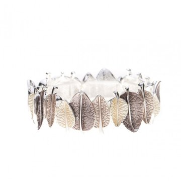 Luxe armband bladeren taupe