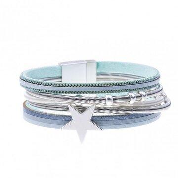 Armband star licht blauw