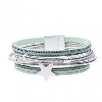 Armband star licht groen