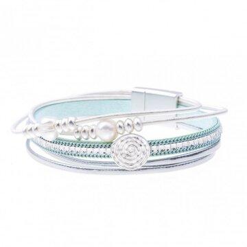 Armband pearl licht blauw