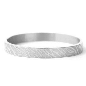 Stainless steel armband print zebra