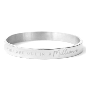 Stainless steel armband YOU ARE ONE IN A MILLION.
