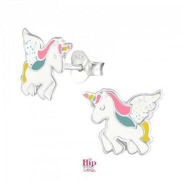 Unicorn zilveren kinderoorbellen