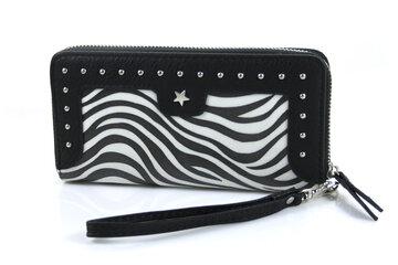 Zebra look portemonnee zwart wit