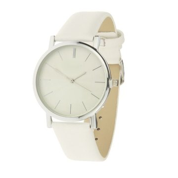 Horloge zilver wit