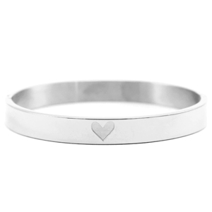 Stainless steel armband hart