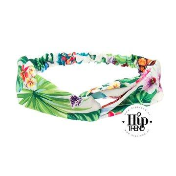 haarband bloemen groen