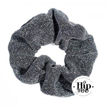 Scrunchie zwart glitter