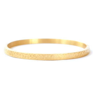 Stainless steel armband print leopard goudkleurig