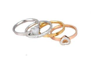 Zilverkleurige stainless steel ringen